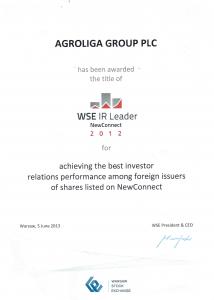 IR leader 2012